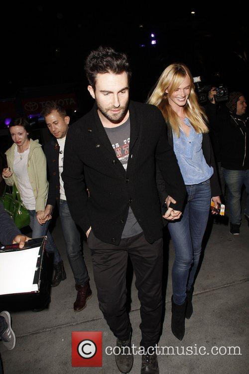 Anne Vyalitsyna; Adam Levine arriving at the basketball...