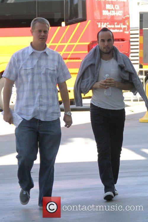 Landon Donovan Celebrities are seen arriving the Staples...