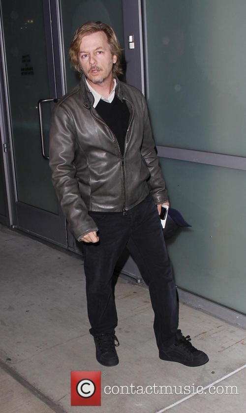 David Spade Celebrities arrive at the Staples Center...
