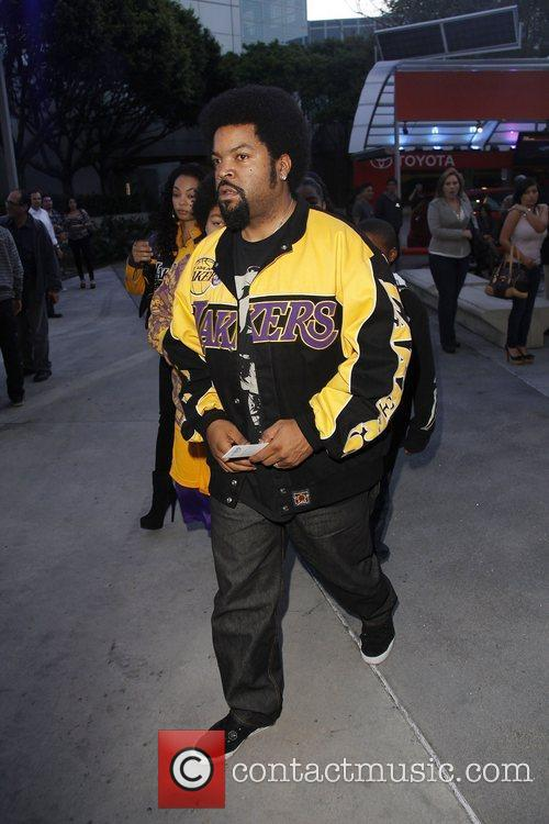 Celebrities arrive at the Staples Center for the...
