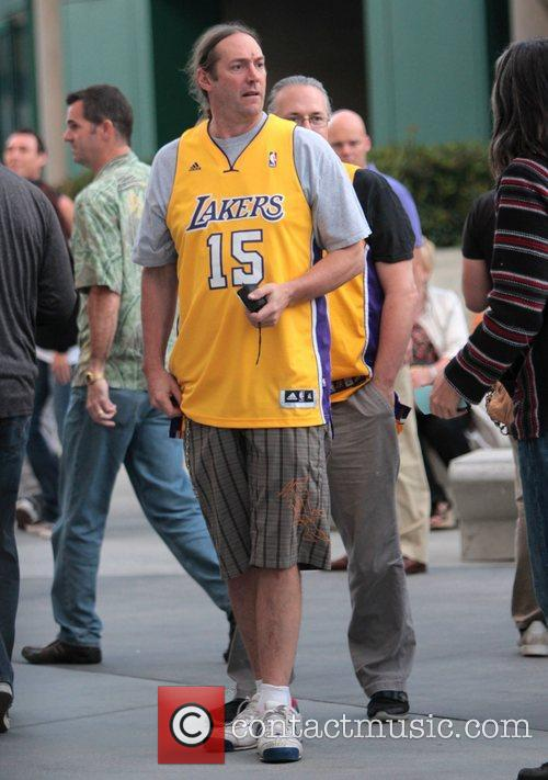 Celebrities arrive at the Staples Centre to watch...