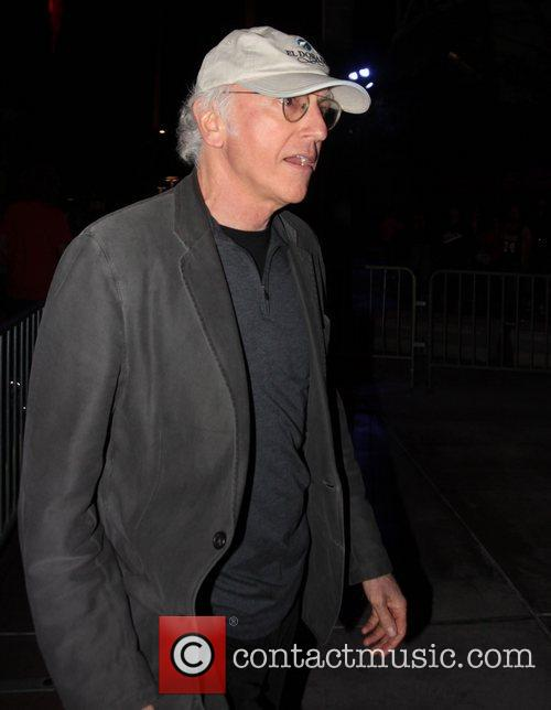 Larry David Celebrities arrive at the Staples Centre...