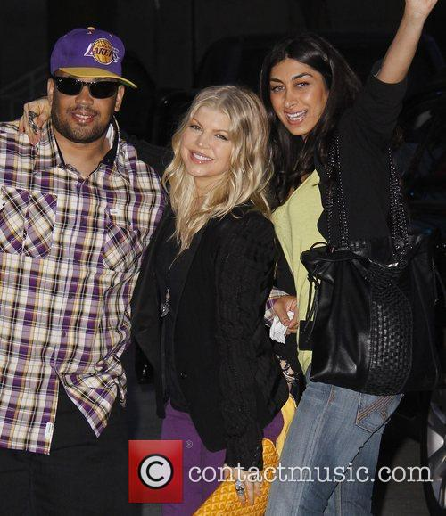 Celebrities at the Staples Centre to watch the...