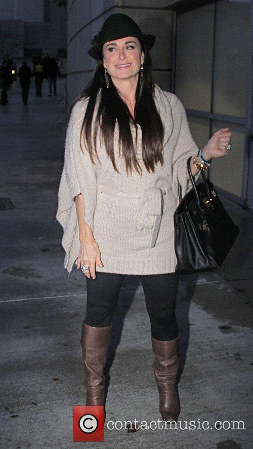 Kyle Richards arriving at the Staples Centre to...