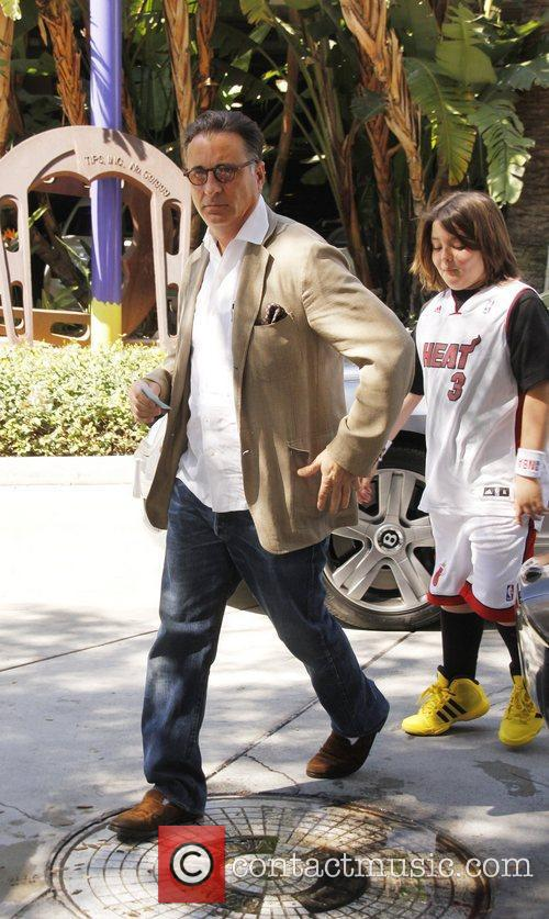 Andy Garcia Celebrities are seen arriving the Staples...