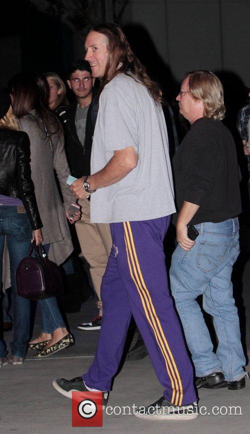 Danny Carey at the Staples Center to watch...