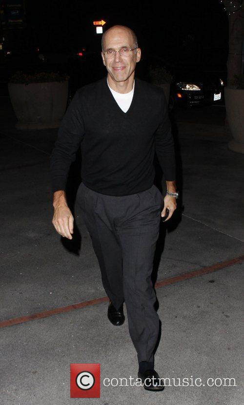Jeffery Katzenberg at the Staples Center to watch...