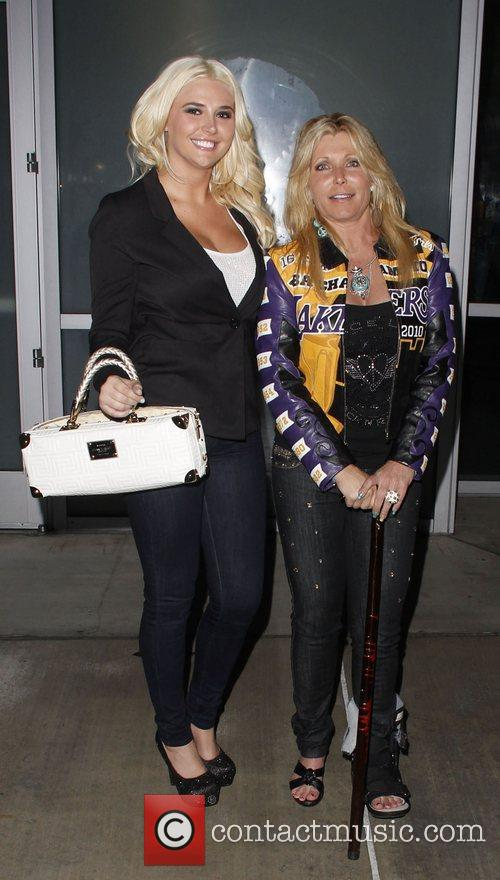 Pamela Bach, Kristina Shannon and Staples Center 2