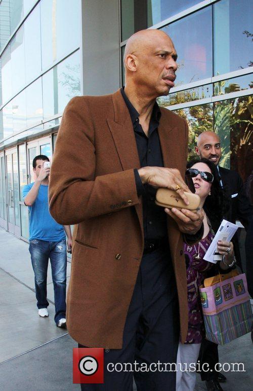Kareem Abdul-Jabbar Celebrities are seen arriving the Staples...