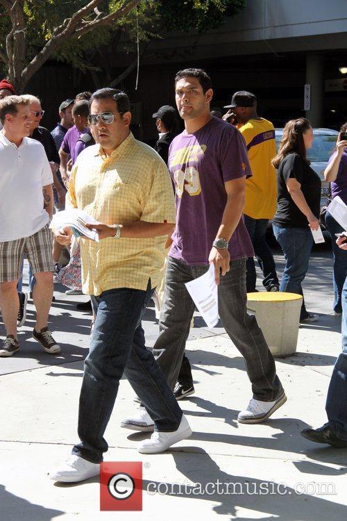Mark Sanchez Celebrities are seen arriving the Staples...