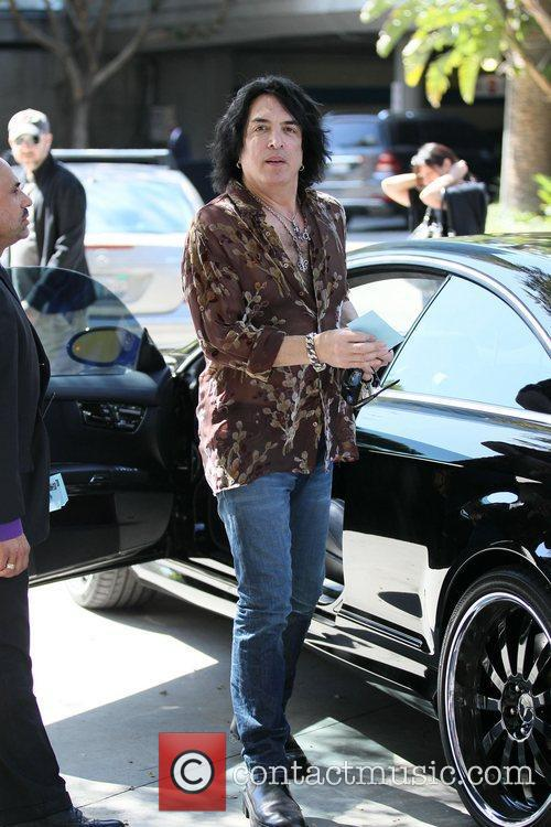 Celebrities are seen arriving the Staples Center for...