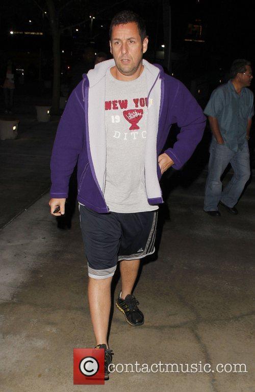 Adam Sandler arrives at the Staples Center for...