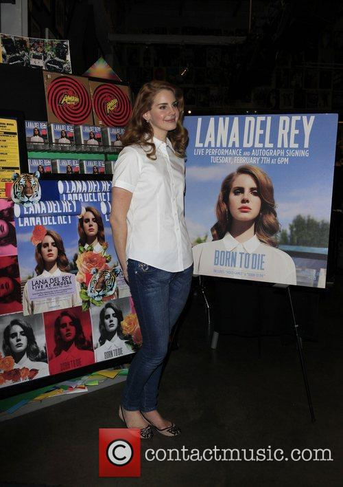 Lana Del Rey attends a CD signing event...