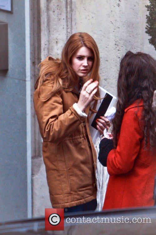 Leaving her hotel in Paris