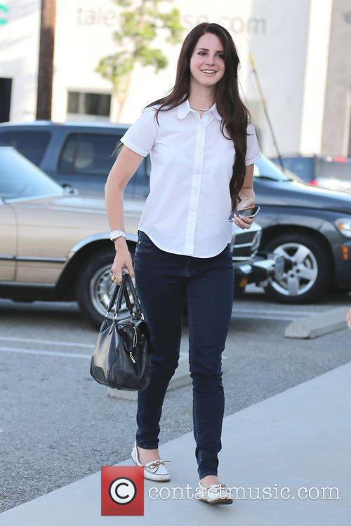 Lana Del Rey  arrives at Maxfield in...