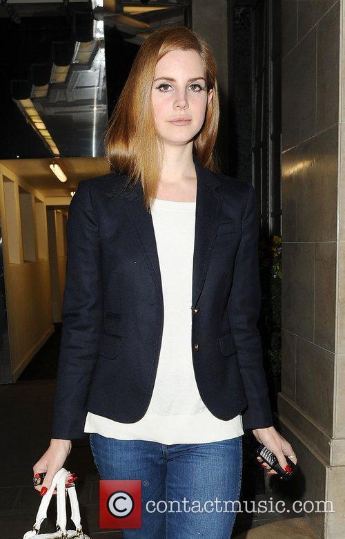 Lana Del Rey arriving back at her hotel....