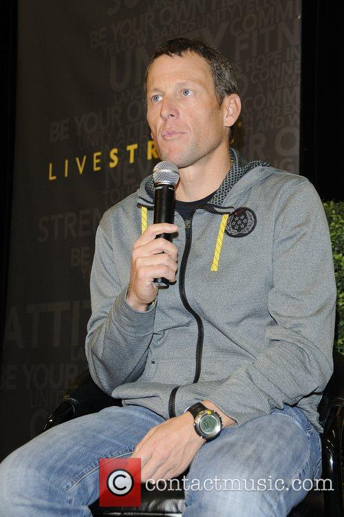 lance armstrong at the launch of livestrong 5777872