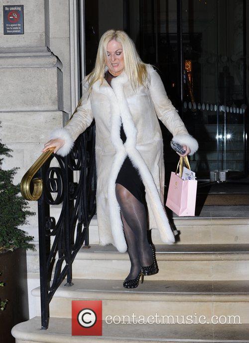 Vanessa Feltz  leaving the Langham Hotel on...