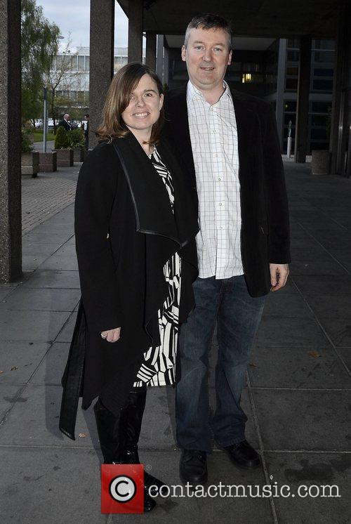 Cathy Durkin Celebrities outside the RTE Studios for...