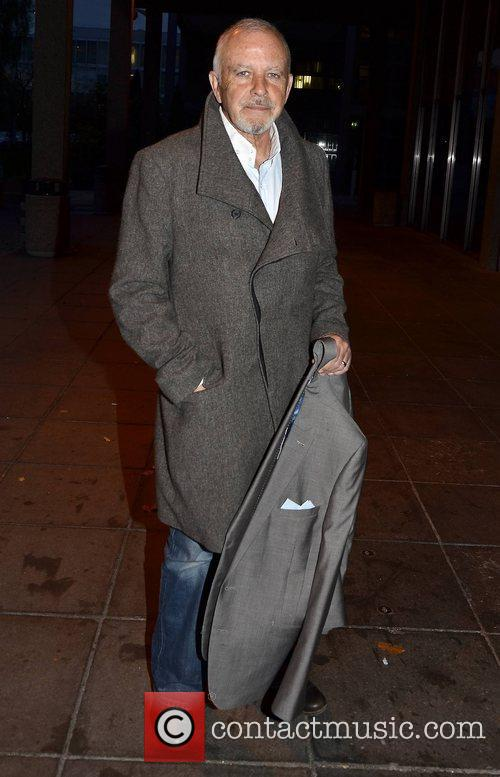David Essex Celebrities outside the RTE Studios for...