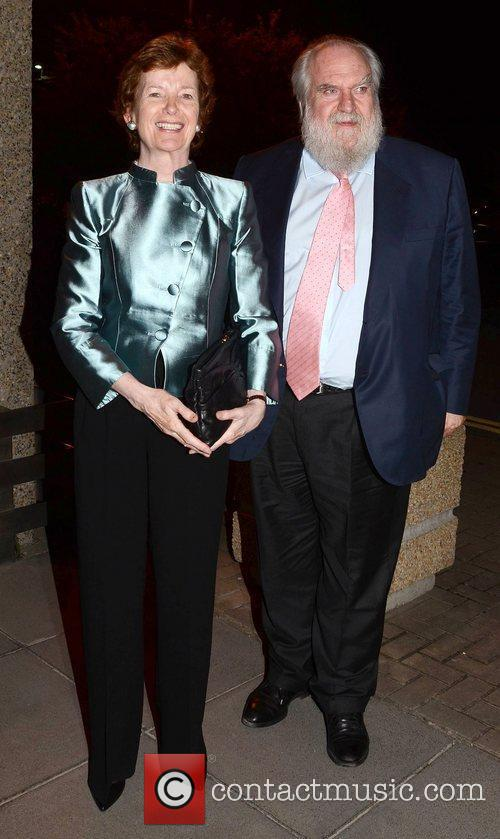 Mary Robinson and Nicholas Robinson Celebrities outside the...