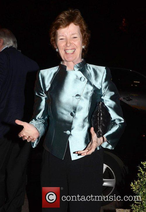 Mary Robinson Celebrities outside the RTE Studios for...