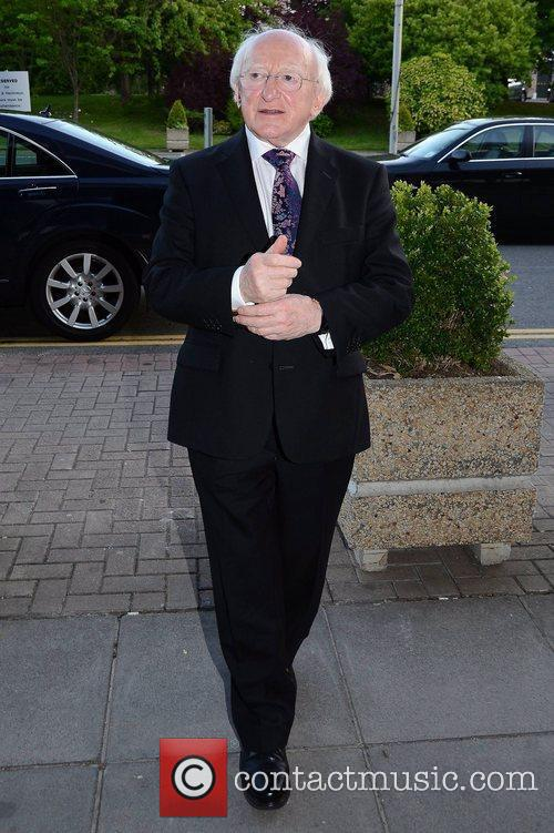 Michael D Higgins Celebrities outside the RTE Studios...