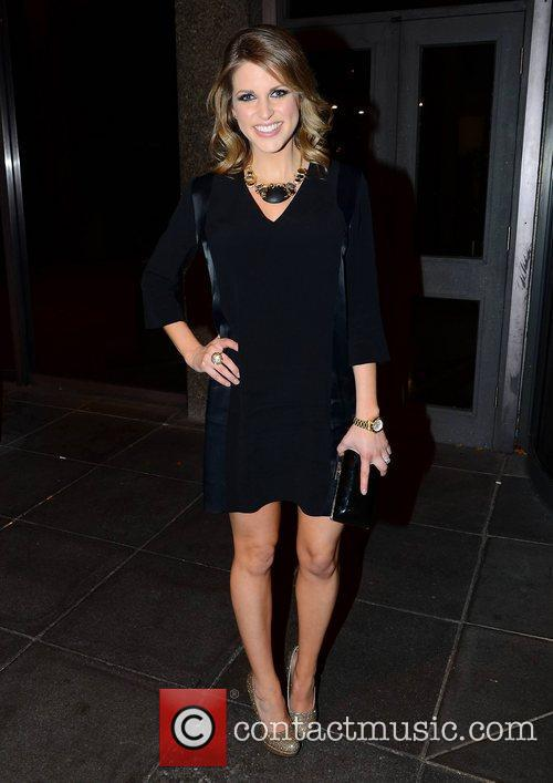 Amy Huberman arrives at  RTE studio to...
