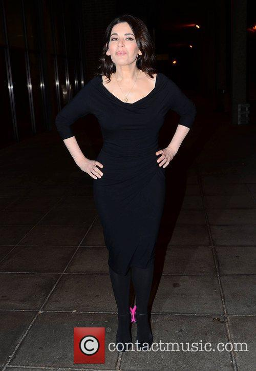 Nigella Lawson arrives at  RTE studio to...