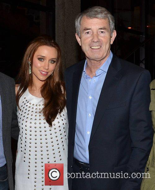 Una Healy and Michael Lowry TD Celebrities outside...