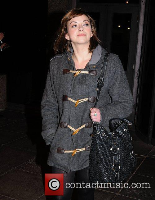 Charlotte Church Celebrities outside the RTE studios for...