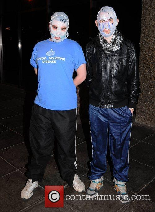 The Rubberbandits Celebrities outside the RTE studios for...