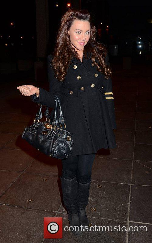 Michelle Heaton Celebrities outside the RTE Studios for...