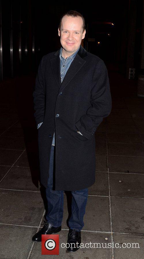 Neil Delamere Celebrities outside the RTE Studios for...