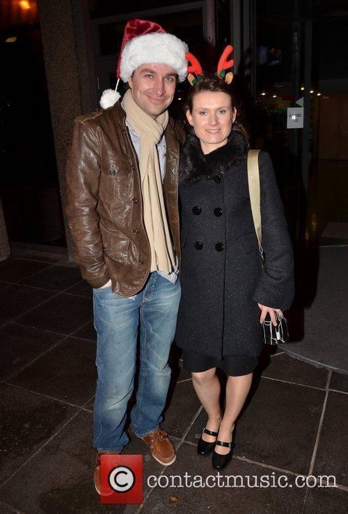 Kim Hatton, Keith Jenkinson Celebrities outside the RTE...