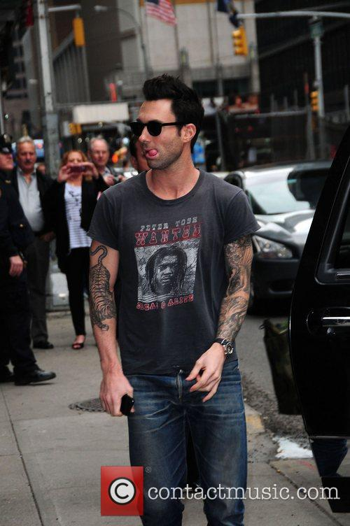 Adam Levine    at the 'Late...