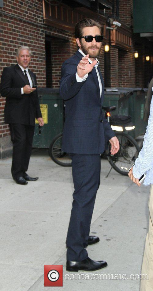 Jake Gyllenhaal at the 'The Late Show with...