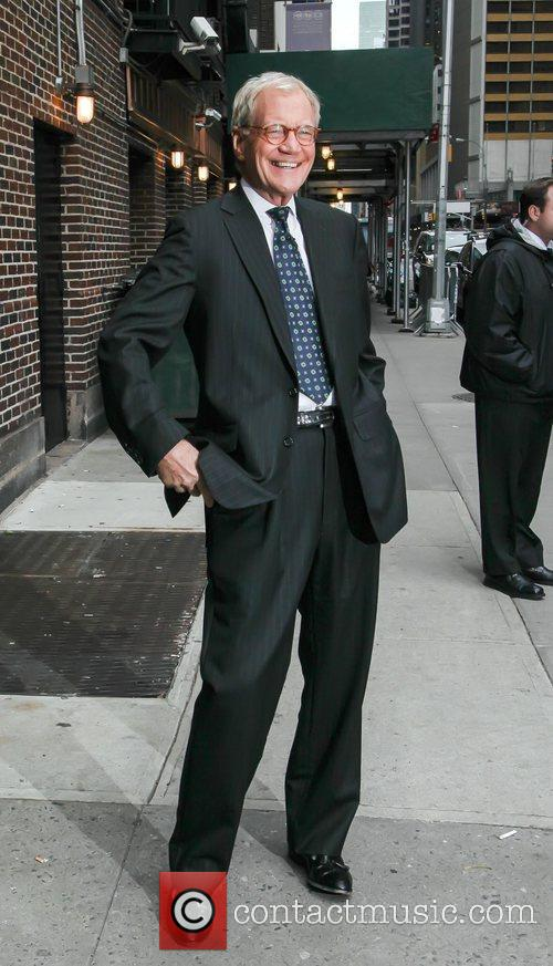 david letterman arrives to the late show 4156605
