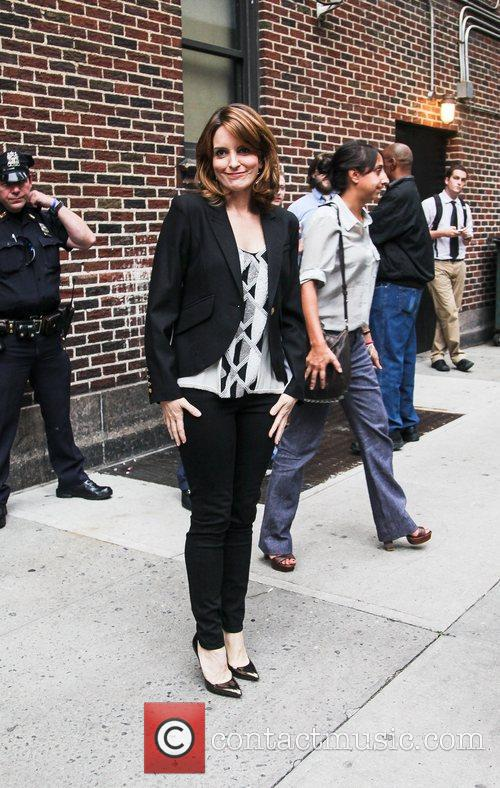 tina fey arrives to the late show 4112545