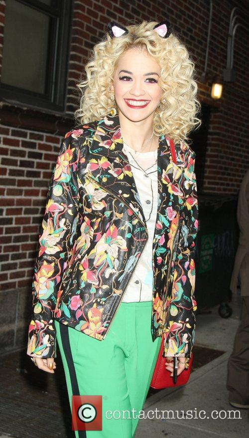 Rita Ora outside the Ed Sullivan theatre for...