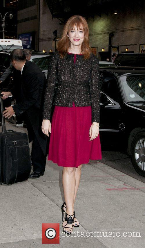 Judy Greer arrives for the 'Late Show with...