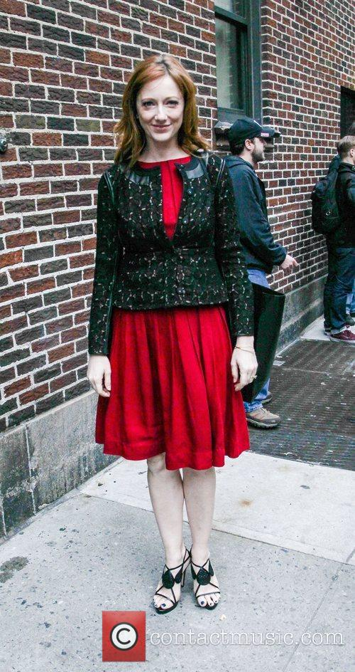 judy greer arrives to the late show 4156641