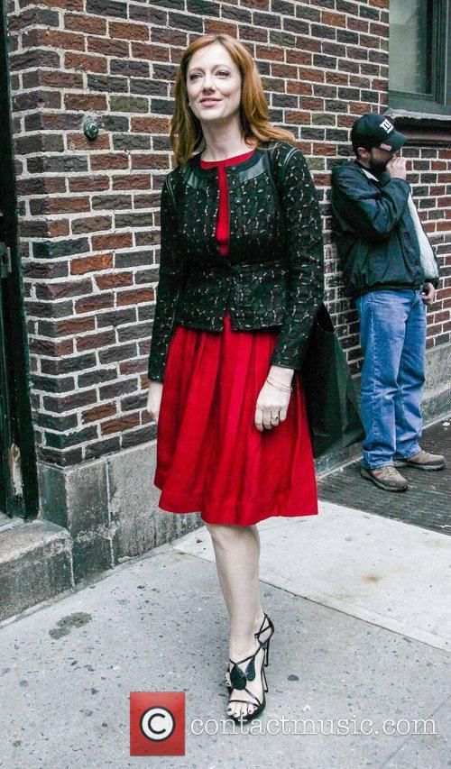 Arrives to the Late Show with David Letterman...