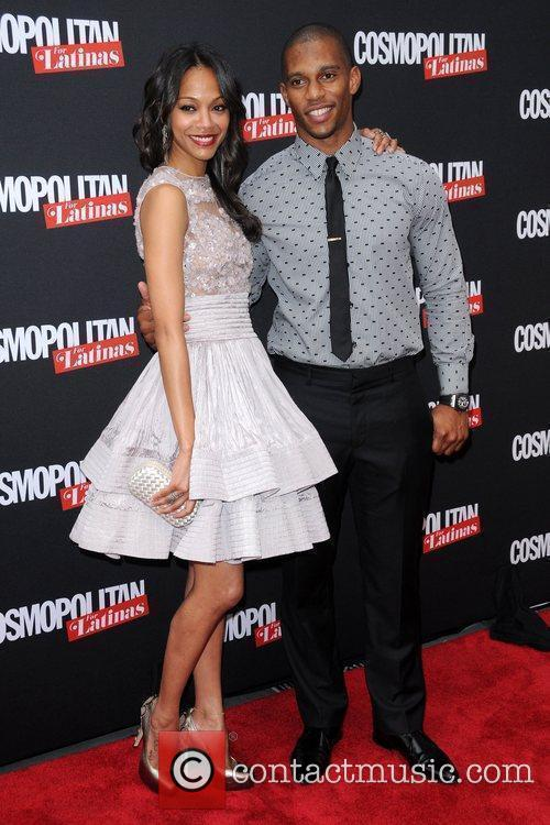 Zoe Saldana and Victor Cruz 4