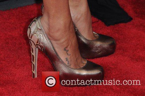 zoe saldana shoes attend the cosmopolitan for 5838810
