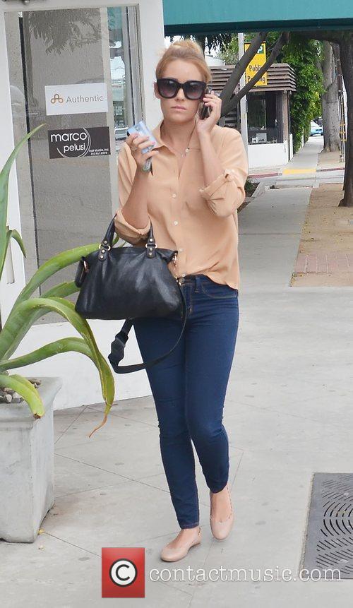 Lauren Conrad goes shopping on Melrose Avenue