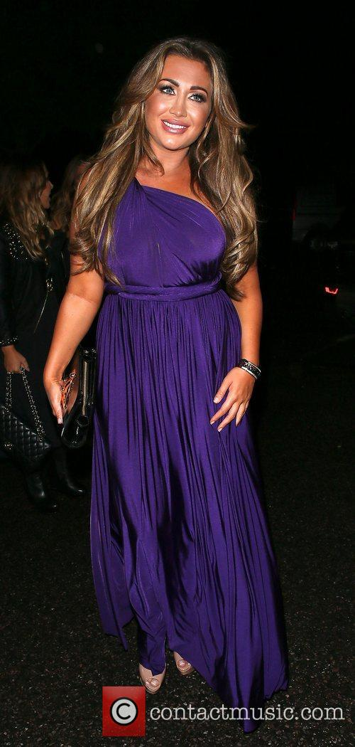 Lauren Goodger arrives at her 25th Birthday Party...