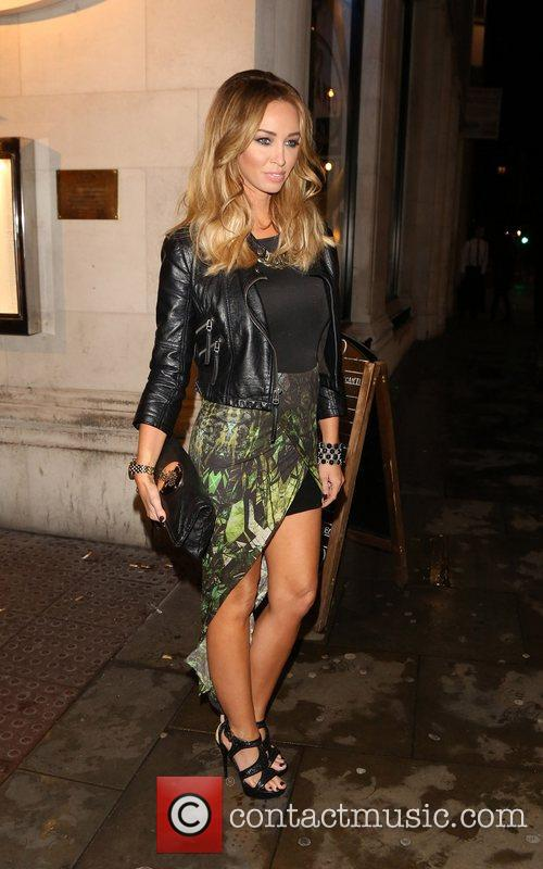 Lauren Pope leaving San Carlo restaurant Liverpool, England
