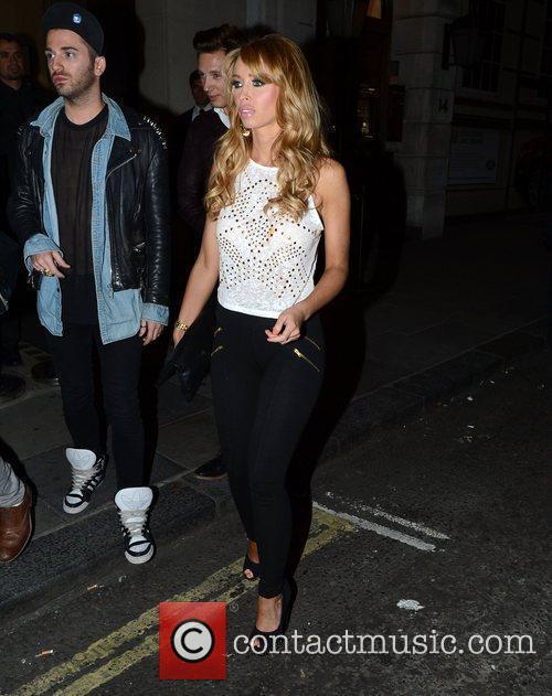 Lauren Pope leaves Nobu Berkeley restaurant London, England