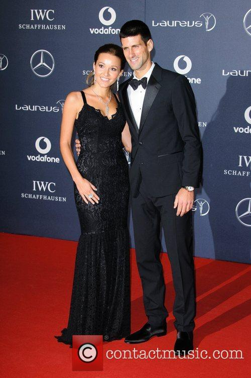 Jelena Ristic and Novak Djokovic Laureus Sport Awards...